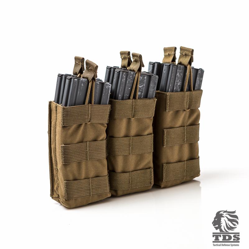 Molle Triple Shingle Rifle Magazine Pouch Double Row 5